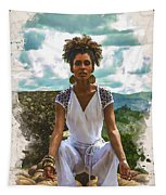 The Art Of Yoga Tapestry