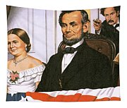 The Assassination Of Abraham Lincoln Tapestry