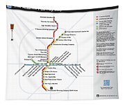 The Atlanta Pubway Map Tapestry