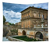 The Back Of The Pitti Palace In Florence Tapestry