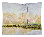 The Banks Of The River Epte At Giverny Tapestry