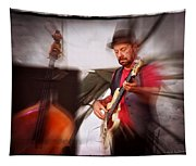 The Bass Player Tapestry