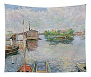 The Bateau Lavoir At Asnieres Tapestry