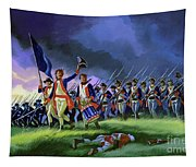 The Battle Of Saratoga, Showing A General Attack Led By Brigadier Arnold Tapestry