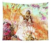 The Beautiful Black Bride Tapestry