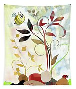 The Bee And The Ladybug Tapestry