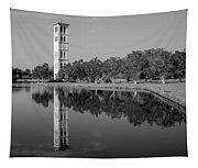 The Bell Tower Reflections B W Furman University Greenville South Carolina Art Tapestry