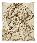 The Birth Of Bacchus From Jupiter's Thigh Tapestry