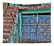 The Blue Door - India Tapestry