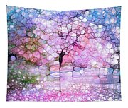 The Blushing Tree In Bloom Tapestry