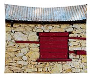 The Boarded Red Window Tapestry