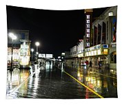 The Boardwalk At Night Tapestry