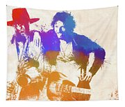 The Boss And The Big Man Tapestry