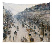 The Boulevard Montmartre On A Winter Morning, 1897  Tapestry