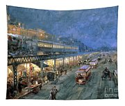 The Bowery At Night Tapestry