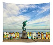 The Boy On The Seahorse Pano Tapestry