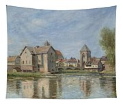 The Bridge And Mills Of Moret Sur Loing Tapestry