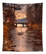 The Bridge By The Lake Tapestry