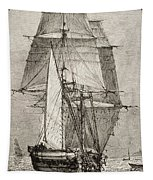 The Brig Hms Beagle From Journal Of Tapestry