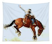 the Bronc Buster Tapestry