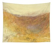 The Brunig Pass From Meiringen Tapestry