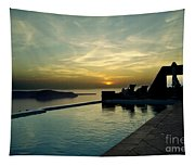 The Caldera View In Santorini Tapestry