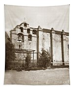 The Campanario, Or Bell Tower Of San Gabriel Mission Circa 1880 Tapestry