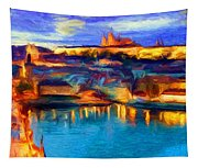 The Castle And The River Tapestry