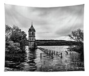 The Cathedral Of Fish Bw Tapestry