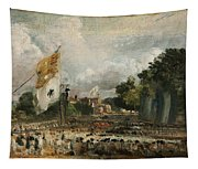The Celebration In East Bergholt Of The Peace Of 1814 Concluded In Paris  Tapestry
