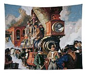 The Ceremony Of The Golden Spike On 10th May Tapestry