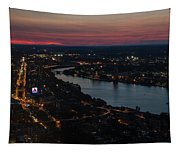 The Charles River Runs Through Boston At Sunset Boston, Ma Tapestry