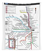 The Chicago Pubway Map Tapestry