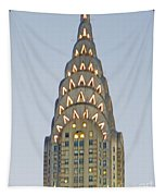 The Chrysler At Dusk Tapestry