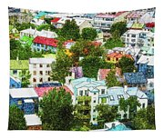 The Colors Of Reykjavik Tapestry