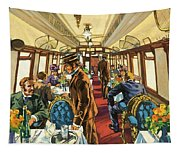 The Comfort Of The Pullman Coach Of A Victorian Passenger Train Tapestry