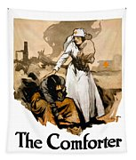 The Comforter - World War One Nurse Tapestry by War Is Hell Store
