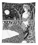 The Complaint Of The Peacock Scene From Aesop's Fables Tapestry