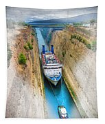 The Corinth Canal  Tapestry