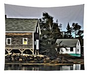The Cove At Dusk Tapestry