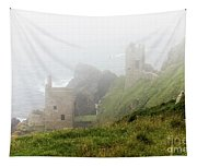 The Crowns In Fog Tapestry