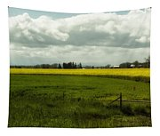 The Curve Of A Mustard Crop Tapestry