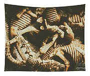 The Dark Dinosaur Abstract Tapestry