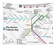 The Denver Pubway Map Tapestry