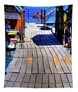 The Dock At Hill's Resort Tapestry