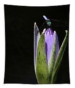 The Dragonfly And The Water Lily  Tapestry