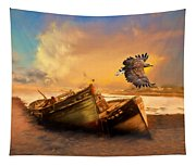 The Eagle And The Boat Tapestry