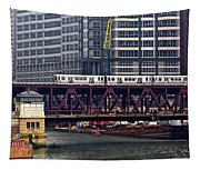 The El In Chicago Tapestry