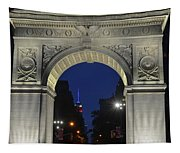 The Empire State Building Through The Washington Square Arch Tapestry
