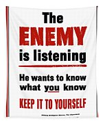 The Enemy Is Listening - Ww2 Tapestry